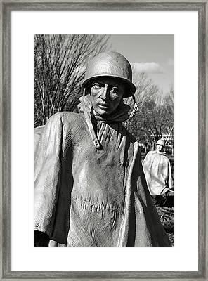 Korean War Memorial Framed Print by Brandon Bourdages