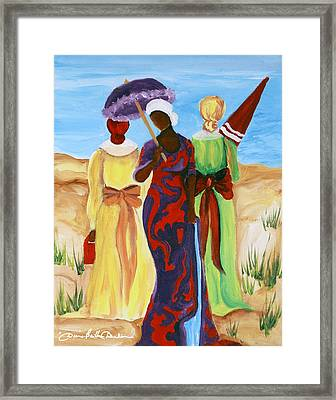 Framed Print featuring the painting 3 Ladies by Diane Britton Dunham