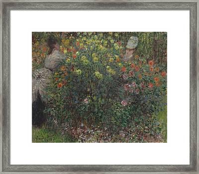Ladies In Flowers Framed Print by Claude Monet