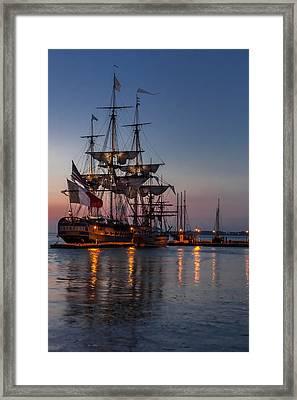 Lafayette's Hermione Voyage 2015 Framed Print