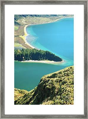 Lagoa Do Fogo Framed Print by Gaspar Avila