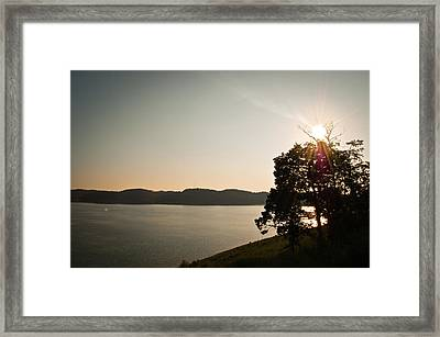 Lake Cumberland Sunset Framed Print