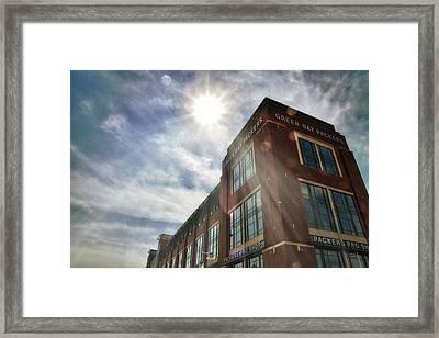 Lambeau Field Framed Print by Joel Witmeyer