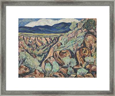 Landscape, New Mexico Framed Print