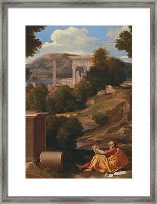 Landscape With Saint John On Patmos Framed Print