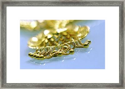 Latest Antique Collections Jewellery Designs Framed Print