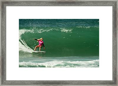 Laura Enever Aus Framed Print by Waterdancer
