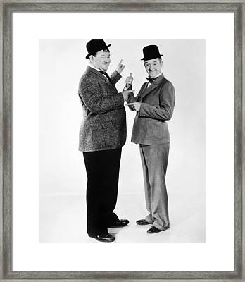 Laurel And Hardy Framed Print by Granger