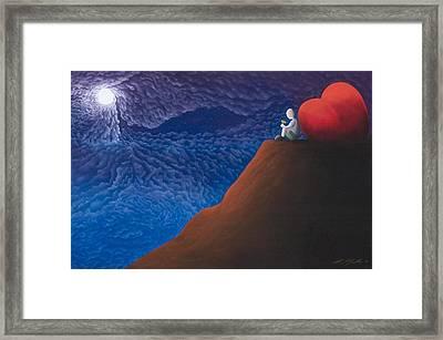 Lean On Love Framed Print