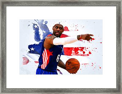 Lebron James Framed Print by Semih Yurdabak