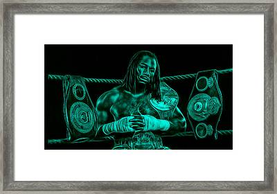 Lennox Lewis Collection Framed Print by Marvin Blaine