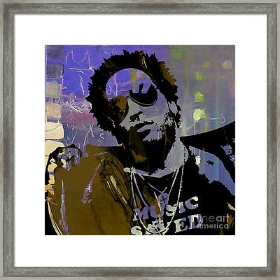 Lenny Kravitz Collection Framed Print by Marvin Blaine