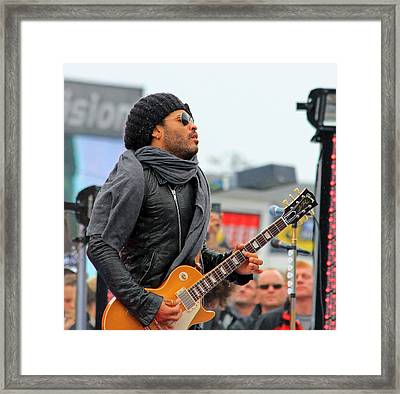 Lenny Kravitz Framed Print by Wild Expressions Photography