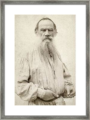 Leo Tolstoy (1828-1910) Framed Print by Granger