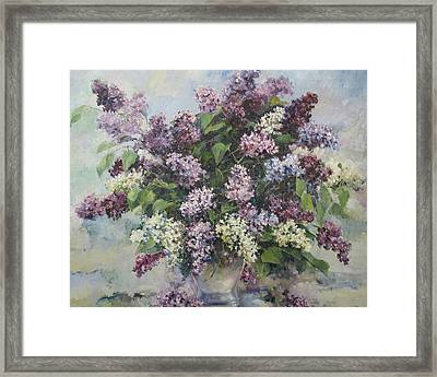 Framed Print featuring the painting Lilacs by Tigran Ghulyan