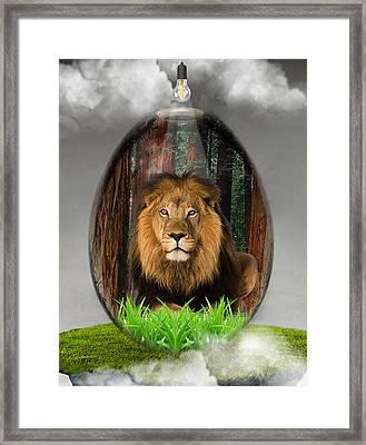 Lion Art Framed Print