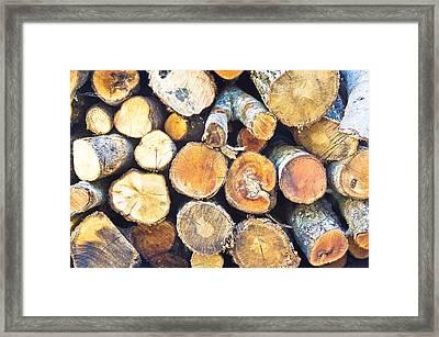 Logs Framed Print