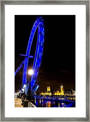 London Eye Night View Framed Print