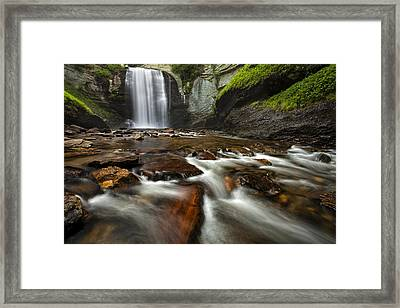 Looking Glass Falls Framed Print by Andrew Soundarajan