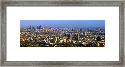 Los Angeles Skyline From Mulholland Framed Print