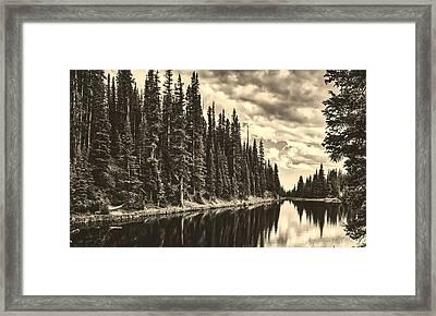 Lovely Lake Irene Framed Print