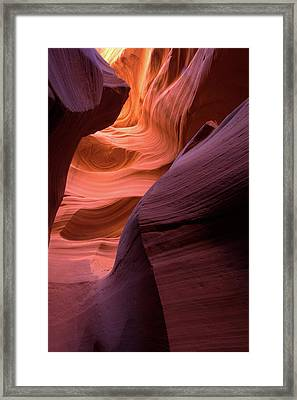 Lower Antelope Slot Canyon Framed Print by Paul Cannon