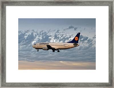 Lufthansa Boeing 737-300 Framed Print