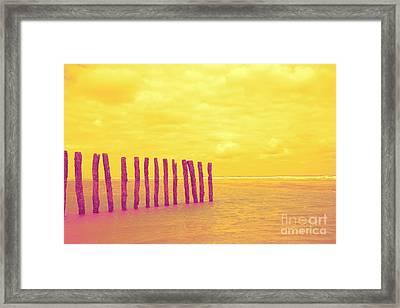 Luminous Beach Yellow Framed Print