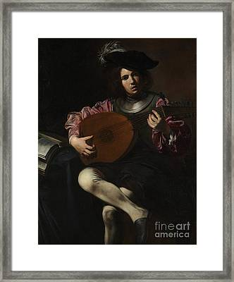 Lute Player Framed Print