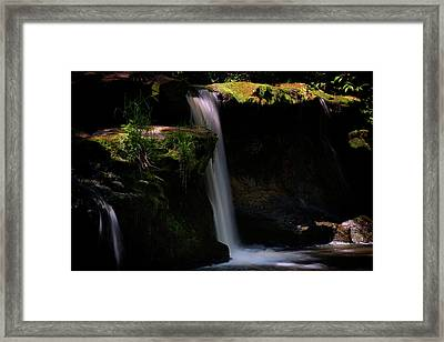 Framed Print featuring the photograph Lynn Mill Waterfalls by Jeremy Lavender Photography