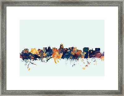 Madison Wisconsin Skyline Framed Print