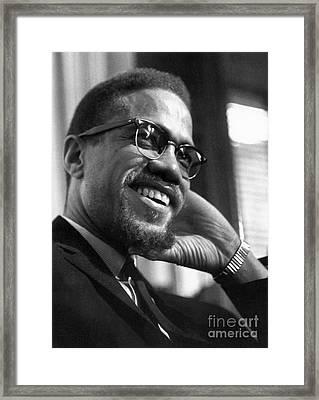 Malcolm X (1925-1965) Framed Print by Granger