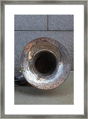 Marching Band Instrument Framed Print by Robert Ullmann