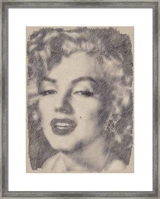 Marilyn Monroe By John Springfield Framed Print by John Springfield