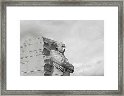 Martin Luther King Memorial In Washington Dc Framed Print