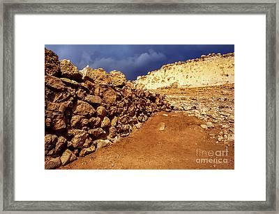 Masada Framed Print