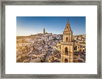Matera Sunrise Framed Print by JR Photography