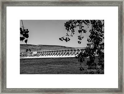 Mcnary Dam Framed Print by Robert Bales