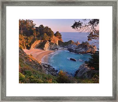Mcway Falls - Big Sur Framed Print