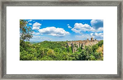 Medieval Town Of Vitorchiano In Lazio, Italy Framed Print by JR Photography