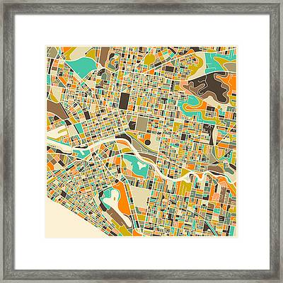 Melbourne framed art prints fine art america melbourne map framed print gumiabroncs Gallery