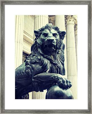 Melted Iron Guardian Framed Print by JAMART Photography
