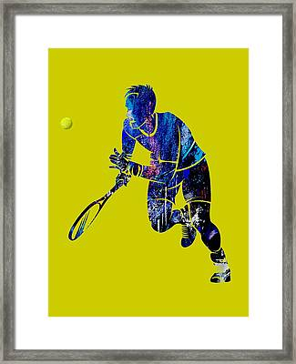 Mens Tennis Collection Framed Print
