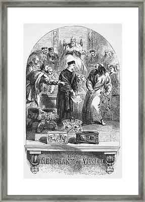 Merchant Of Venice Framed Print by Granger