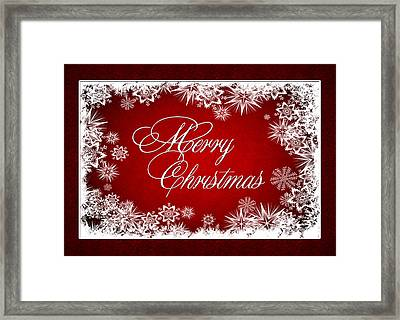 Merry Christmas Card Framed Print