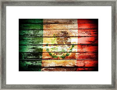 Mexican Flag Framed Print by Les Cunliffe