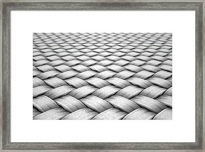 Micro Fabric Weave Framed Print by Allan Swart