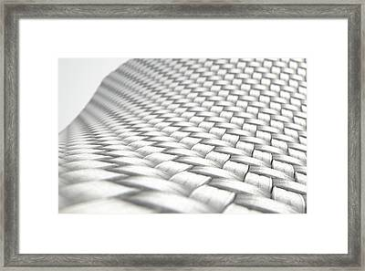Micro Fabric Weave Clean Framed Print by Allan Swart