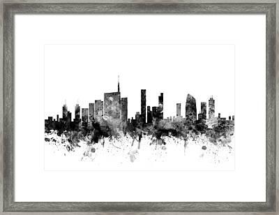 Milan Italy Skyline Framed Print