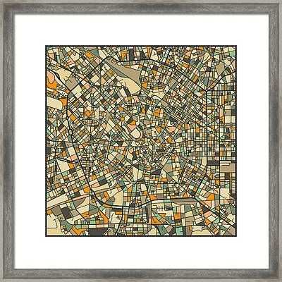 Milan Map Framed Print